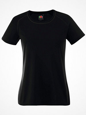 Fruit of the Loom Lady-Fit Performance T Black