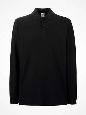 T-shirts - Fruit of the Loom Premium Long Sleeve Polo Black