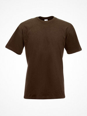 Fruit of the Loom Valueweight Crew Neck T Brown