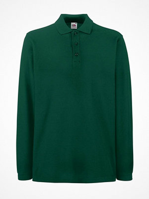 T-shirts - Fruit of the Loom Premium Long Sleeve Polo Green