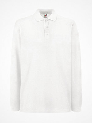T-shirts - Fruit of the Loom Premium Long Sleeve Polo White