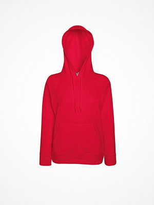 Fruit of the Loom Lady-Fit Light Hooded Sweat Red