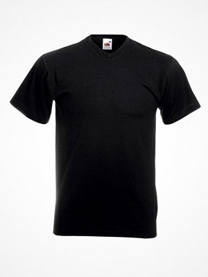 Fruit of the Loom Valueweight V-neck T Black