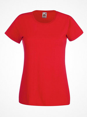 Fruit of the Loom Lady-Fit Valueweight T Red