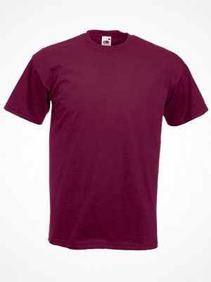 Fruit of the Loom Valueweight Crew Neck T Wine red