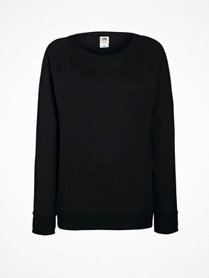 Fruit of the Loom Lady-Fit Light Raglan Sweat Black