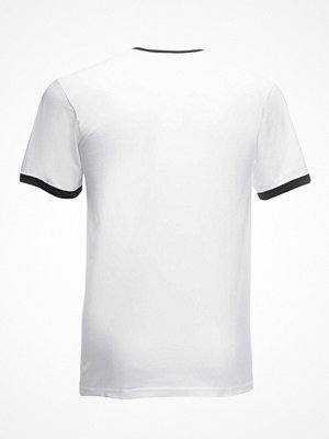 Fruit of the Loom Ringer T White/Black