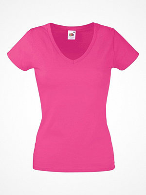 Fruit of the Loom Lady Fit Valueweight V-neck T Pink