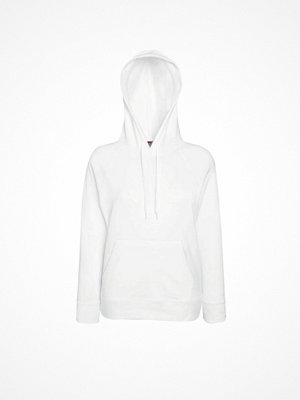 Fruit of the Loom Lady-Fit Light Hooded Sweat White