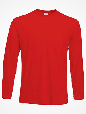 Fruit of the Loom Valueweight Long Sleeve T Red