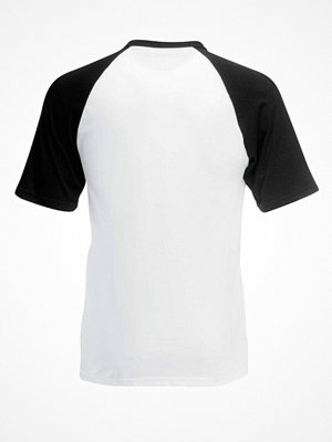 Fruit of the Loom Short Sleeve Baseball T Black/White