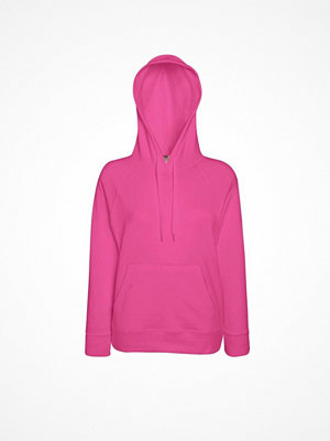 Fruit of the Loom Lady-Fit Light Hooded Sweat Pink