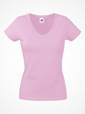 Fruit of the Loom Lady Fit Valueweight V-neck T Lightpink