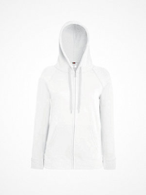 Fruit of the Loom Lady-Fit Hooded Sweat Jacket White