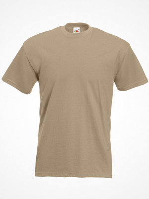 Fruit of the Loom Valueweight Crew Neck T Khaki
