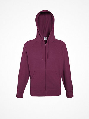 Fruit of the Loom Hooded Sweat Jacket Wine red