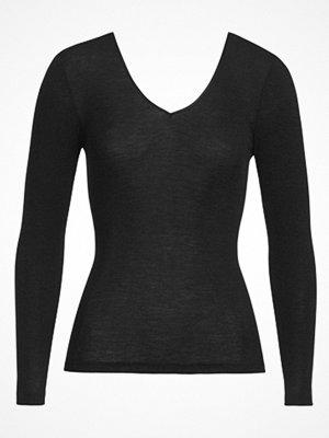 Hanro Woolen Silk Ls Shirt  Black Black