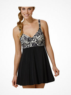 Miss Mary of Sweden Miss Mary Swimdress Printed Pattern Black pattern-2
