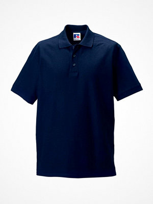 T-shirts - Russell M 100% Cotton Durable Polo Darkblue