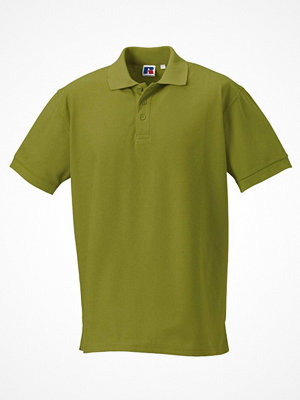 T-shirts - Russell M 100% Cotton Durable Polo Green