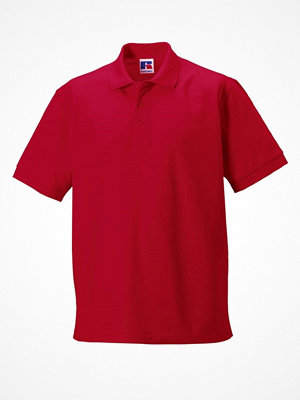 T-shirts - Russell M 100% Cotton Durable Polo Red