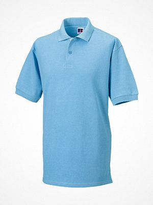 T-shirts - Russell M Classic Cotton Polo Skyblue