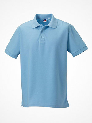 T-shirts - Russell M 100% Cotton Durable Polo Skyblue
