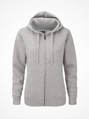 Russell Ladies Authentic Zipped Hood Greymarl