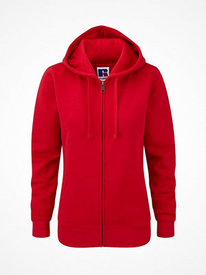 Russell Ladies Authentic Zipped Hood Red