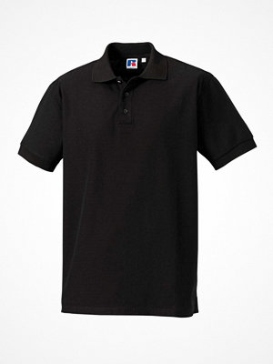 T-shirts - Russell M 100% Cotton Durable Polo Black