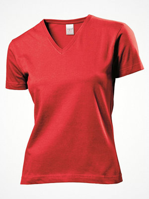 Stedman Classic V-Neck Women T-shirt Red