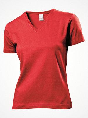 Stedman Classic V-Neck Women T-shirt Red