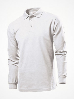 T-shirts - Stedman Polo Long Sleeve Men White