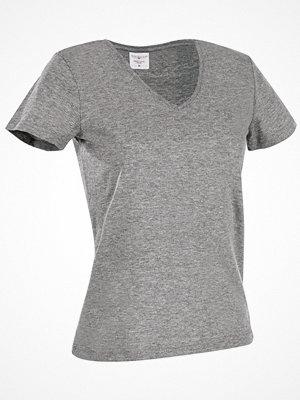 Stedman Classic V-Neck Women T-shirt Greymarl