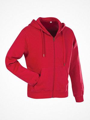 Stedman Active Hooded Sweatjacket For Men Red