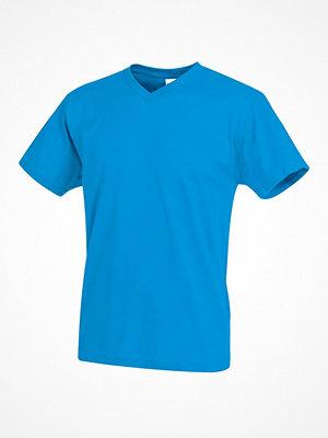 Stedman Classic V-Neck Men T-shirt Blue