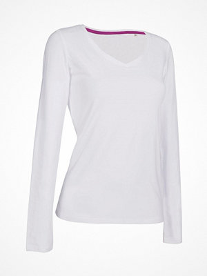 Stedman Claire V-neck Long Sleeve White