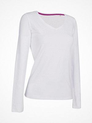 Stedman Claire V-neck Long Sleeve White