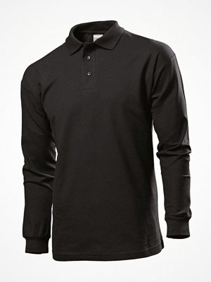 T-shirts - Stedman Polo Long Sleeve Men Black