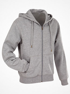 Stedman Active Hooded Sweatjacket For Men Greymarl