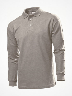 Stedman Polo Long Sleeve Men Grey