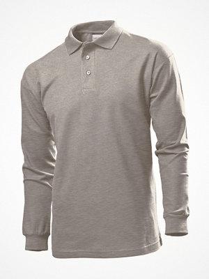 T-shirts - Stedman Polo Long Sleeve Men Grey