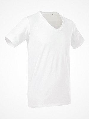 Stedman Dean Deep V-neck White