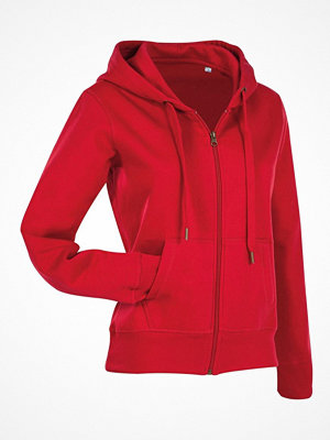 Stedman Active Hooded Sweatjacket For Women Red