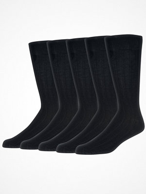 Strumpor - Wolsey 5-pack Cotton Rib Socks Black-2