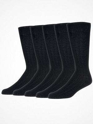 Strumpor - Wolsey 5-pack Cotton Rib Socks Black-2