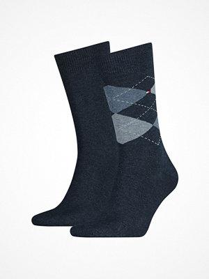 Tommy Hilfiger 2-pack Men Sock Check denim blue