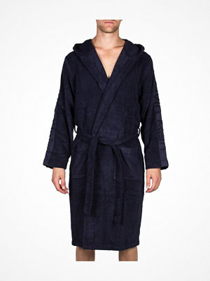 Morgonrockar - Calvin Klein Loungewear Terry Logo Robe Blue