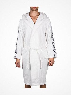 Morgonrockar - Armani Jaquard Sponge Loungewear Bathrobe  White