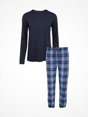 Pyjamas & myskläder - Jockey Loungewear Pyjama Long Sleeve Blue